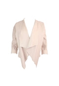 Beige Long Sleeve Jacket
