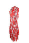 Red Floral Design Maxi Dress