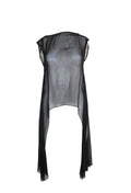 Sheer Black Sleeveless Cape