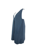 Steel Blue A-Line Sleeveless Dress
