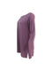Purple Silk Long Sleeve Dress