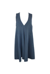 Grey Blue Sleeveless Dress