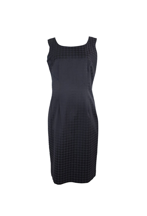 Black Houndstooth Sheath Dress