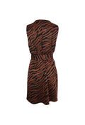 Light Brown Zebra Print Belted Dress