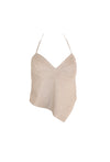Light Brown Leather Halter Top