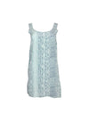 Sea Green Patterned Slip Dress