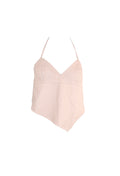 Light Pink Leather Halter Top