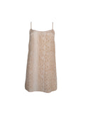 Beige Snakeskin Slip Dress