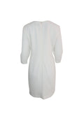 White Long Sleeve A-Line Dress