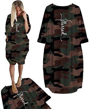 Embroidered Faith Cross Camouflage Dresses for Women at Amazon Women's Clothing store
