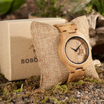 D28 Natural Bamboo Wood Watches With Deer