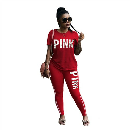 Two Piece Set Spring Street t-shirt Tops and Jogger Set Suits Casual 2pcs Outfits