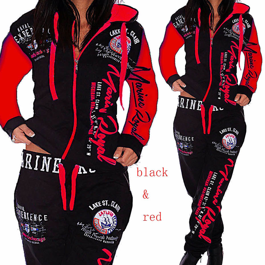 Hoodies Pants 2 Piece Set Warm Printed Outfits Matching Suit Tracksuit