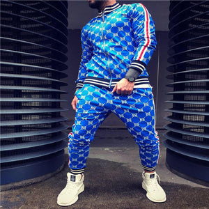 Zipper Set Tracksuit Set Male Sweatshirt Pockets