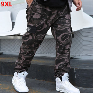 Outdoor trend plus size loose camouflage jogger pants 9XL 8XL 7XL