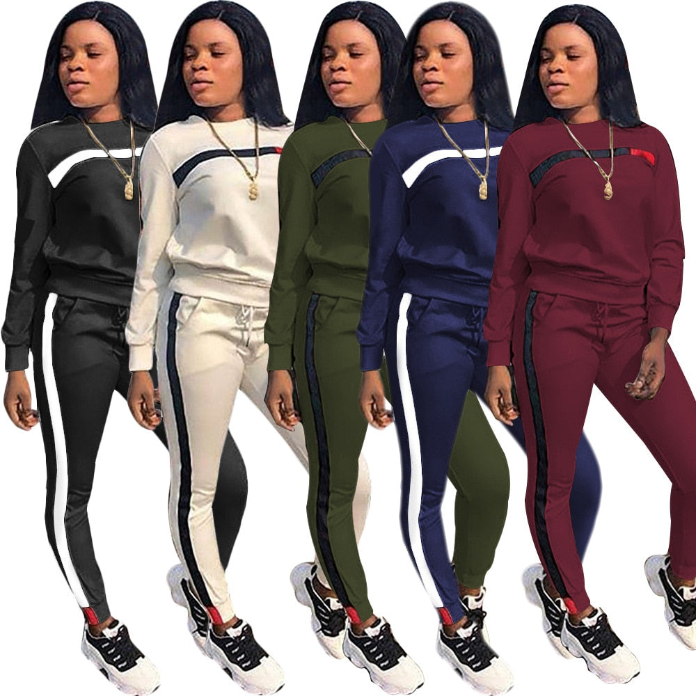 Long Sleeve Hoodies Tops Pants Tracksuit Sweatshirt Pant Outwear Winter