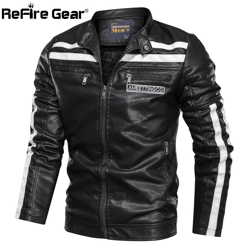 Leather Jackets Autumn Warm Vintage Bomber Military Tactical Jacket Casual Winter Clothes