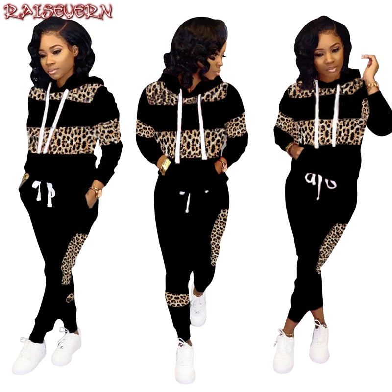 Pathwork Hoodies Long Sleeve Sweatshirt Outfits Pant 2 Pieces Set