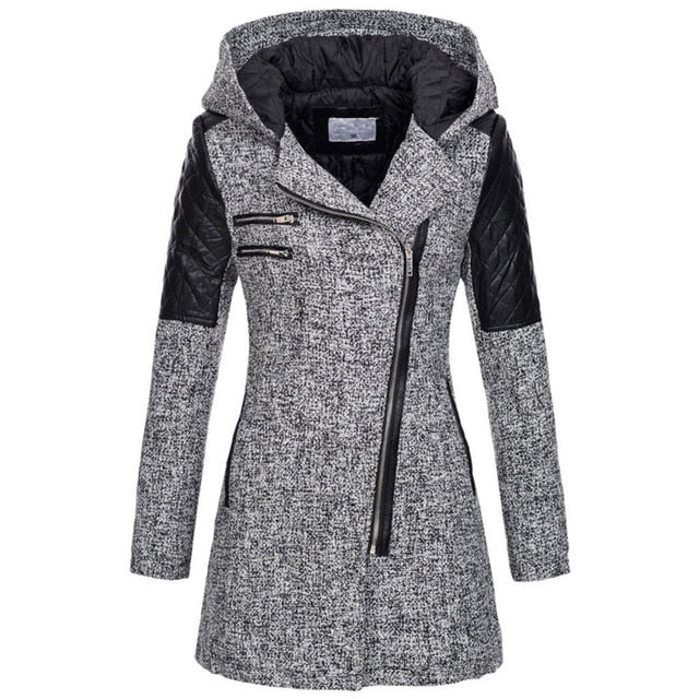 Winter Park Hooded Coat Plus size Warm Slim Jacket Thick Parka Overcoat Outwear Hooded Zipper Coat