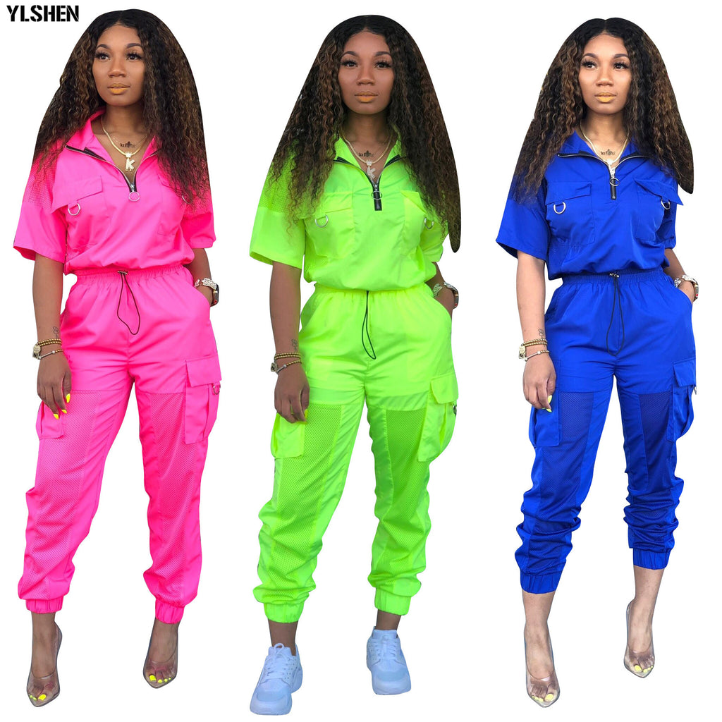 2 Two Piece Set Tracksuit Outfit Tops + Pants Sweat Suit Matching Sets