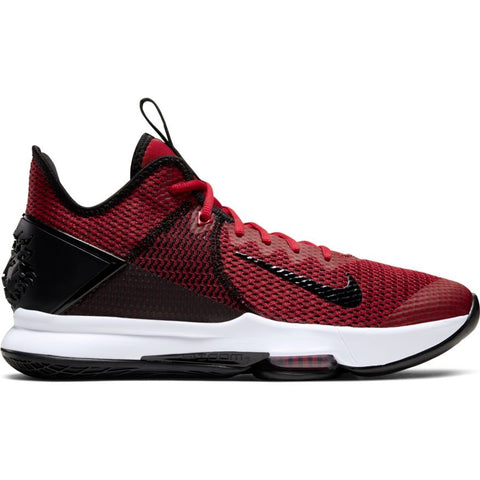 NIKE LEBRON WITNESS IV - BLACK/GYM RED-WHITE