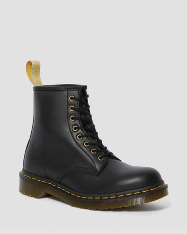 DR MARTEN VEGAN 1460 ANKLE BOOTS - BLACK FELIX RUB OFF