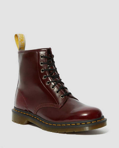 DR MARTEN VEGAN 1460 ANKLE BOOTS - CHERRY RED OXFORD RUB OFF
