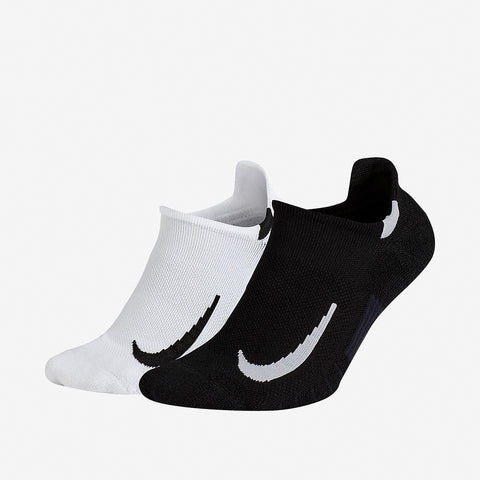 NIKE MULTIPLIER NO SHOW SOCKS (2 PACK) - WHITE/BLACK