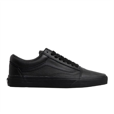 VANS OLD SKOOL LEATHER - BLACK/BLACK