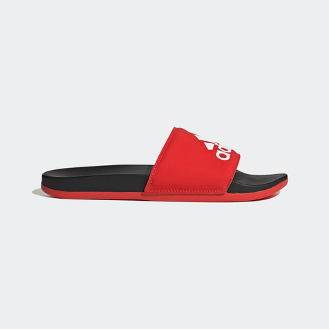 ADIDAS ADILETTE COMFORT SLIDES - ACTIVE RED / CLOUD WHITE / CORE BLACK