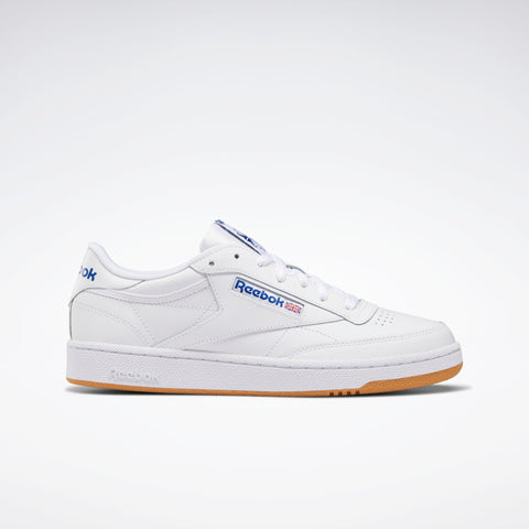REEBOK CLUB C 85 SHOES - INTENSE WHITE / ROYAL-GUM