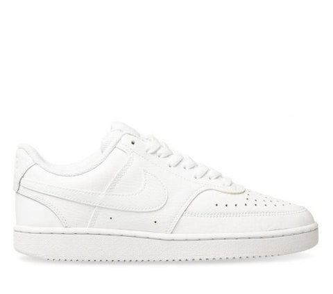 NIKE WOMENS COURT VISION LOW - WHITE/WHITE/WHITE