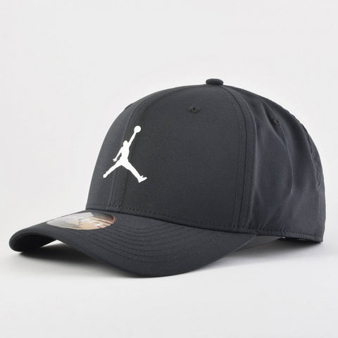 JORDAN MENS SNAPBACK HAT - BLACK/WHITE