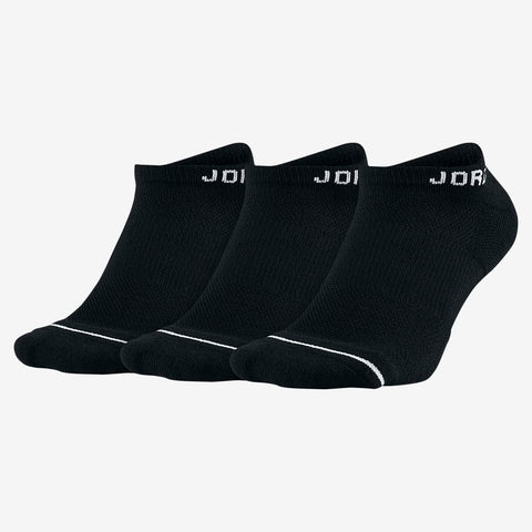 JORDAN EVERYDAY MAX NO SHOW SOCKS (3 PACK) - BLACK//WHITE