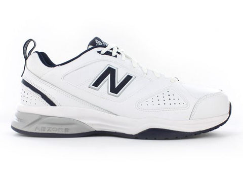 NEW BALANCE MENS 624 V4 - WHITE/NAVY