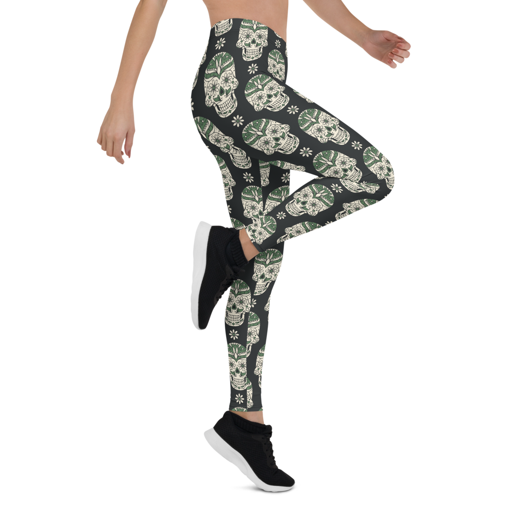 Womens Leggings & Activewear - Sugar Skull | TopGurl Printed Athleisure - TOPGURL