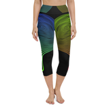 Capri Yoga Pants & High Waist Leggings - Neon Spires | TopGurl Workout Printed Activewear Athleisure - TOPGURL
