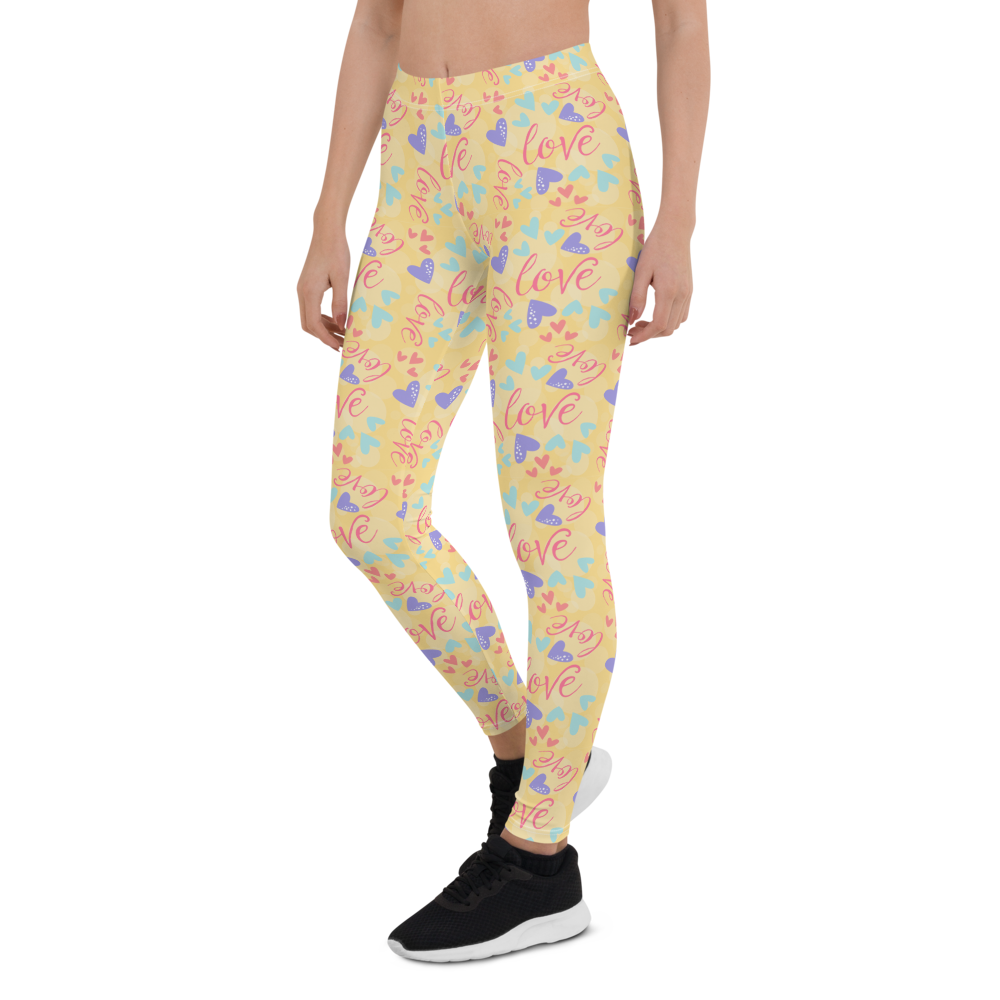 Womens Leggings & Activewear - All You Need Is Love | TopGurl Printed Athleisure - TOPGURL
