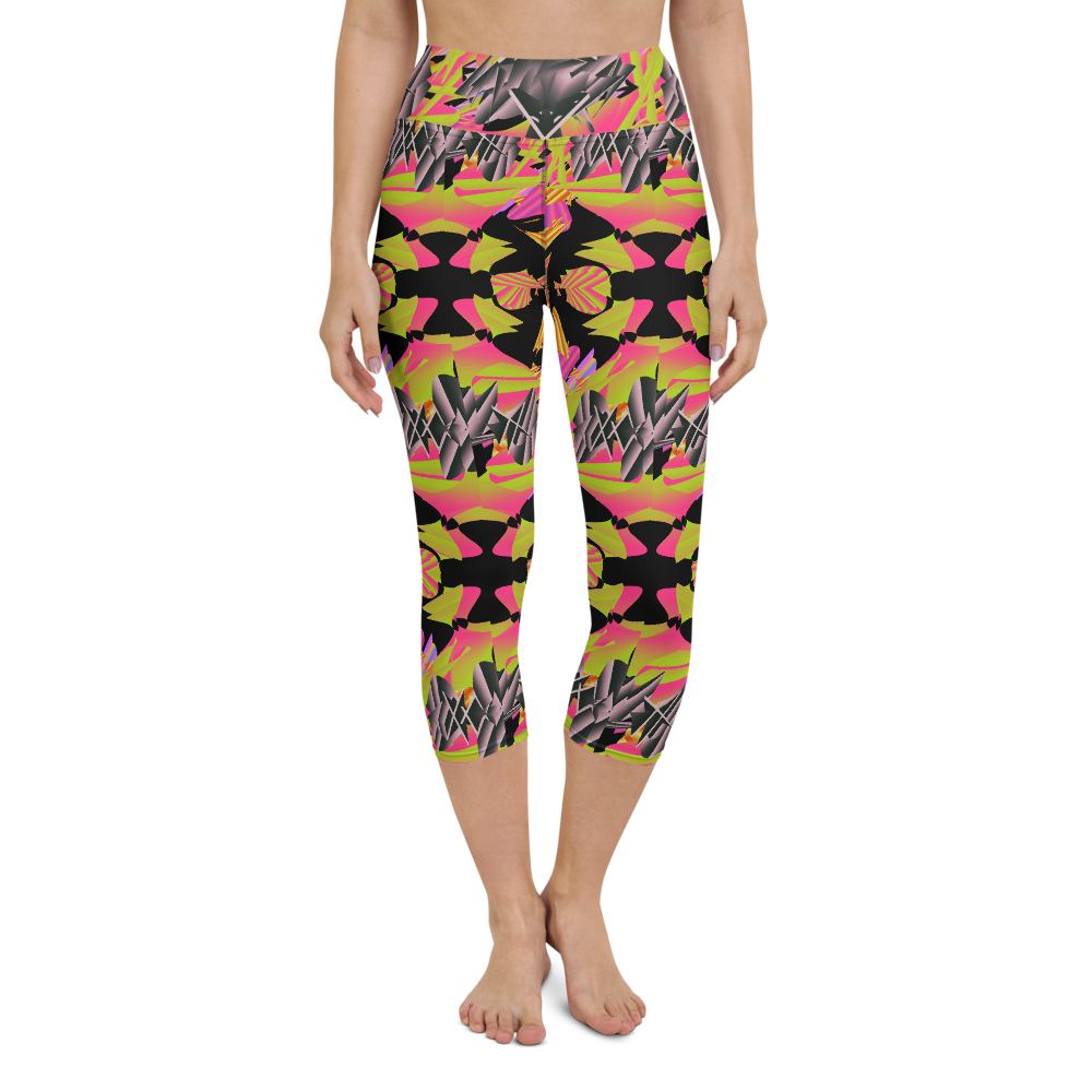 Capri Yoga Pants & High Waist Leggings - Abstract Psyche | High Waist | TopGurl - TOPGURL