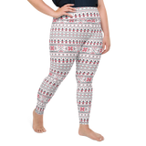 Plus Size Leggings & Yoga Pants - Ethnic White | TopGurl High Waist Workout Printed Activewear Athleisure - TOPGURL