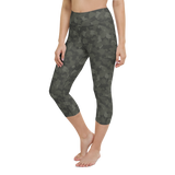 Capri Yoga Pants & High Waist Leggings - Army Camo Gray | TopGurl Workout Printed Activewear Athleisure - TOPGURL