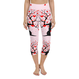 Capri Yoga Pants & High Waist Leggings - Heart Tree | TopGurl Workout Printed Activewear Athleisure - TOPGURL