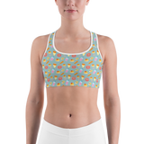 Sports Bra - Donuts And Fries | Activewear | TopGurl Printed Athleisure - TOPGURL
