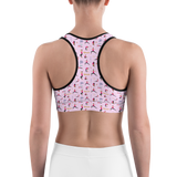 Sports Bra - Yoga Girl OM | Activewear | TopGurl Printed Athleisure - TOPGURL