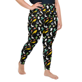 Plus Size Leggings & Yoga Pants - Birds Of All Feathers | TopGurl High Waist Workout Printed Activewear Athleisure - TOPGURL