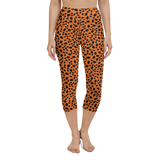 Capri Yoga Pants & High Waist Leggings - Cheetah Orange | TopGurl Workout Printed Activewear Athleisure - TOPGURL