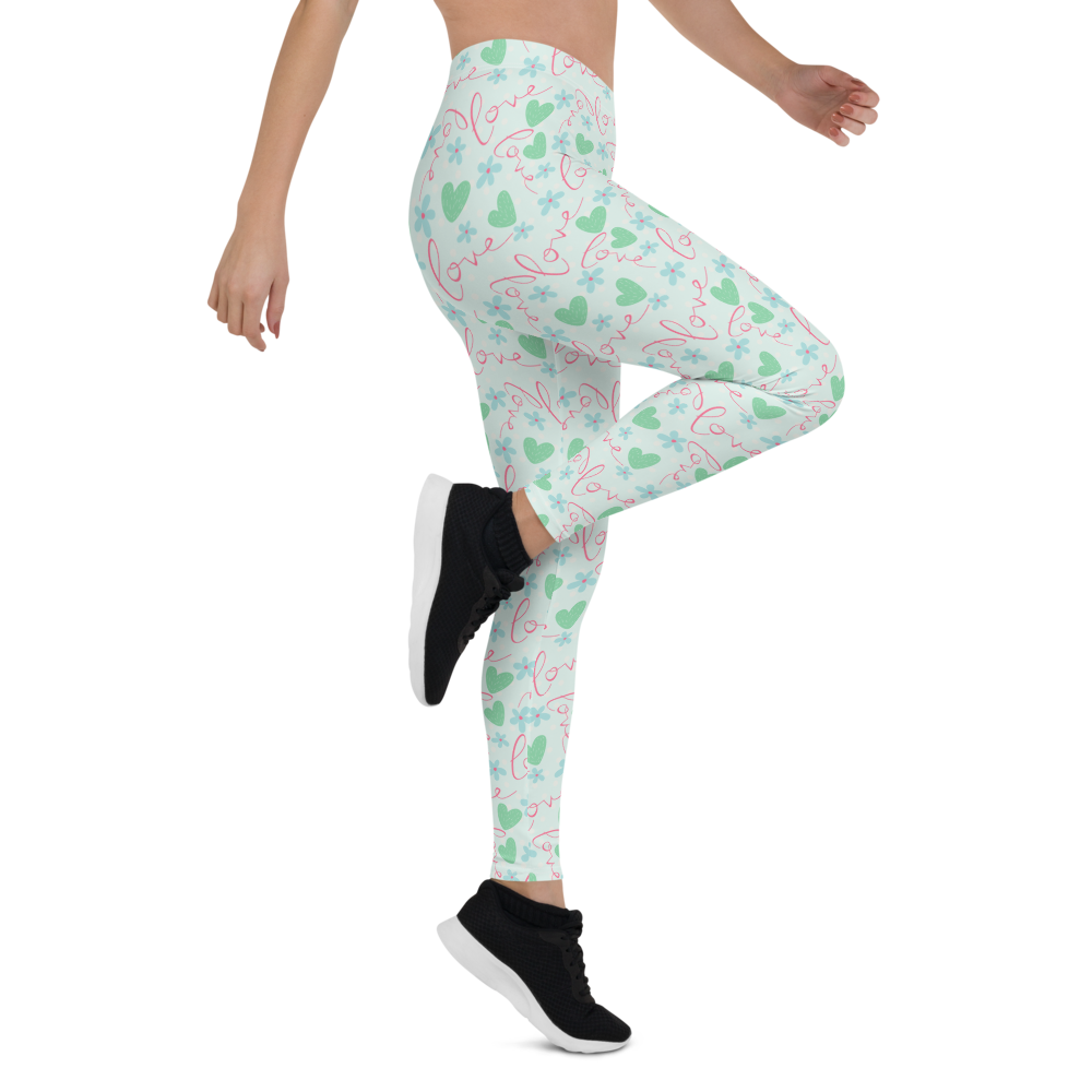 Womens Leggings & Activewear - Love is in the Air | TopGurl Printed Athleisure - TOPGURL