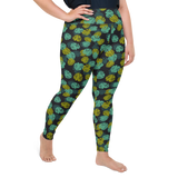 Plus Size Leggings & Yoga Pants - Army Camo Palm Leaves | TopGurl High Waist Workout Printed Activewear Athleisure - TOPGURL