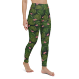 Yoga Pants & High Waist Leggings - Floral Palm Leaves | TopGurl Workout Printed Activewear Athleisure - TOPGURL