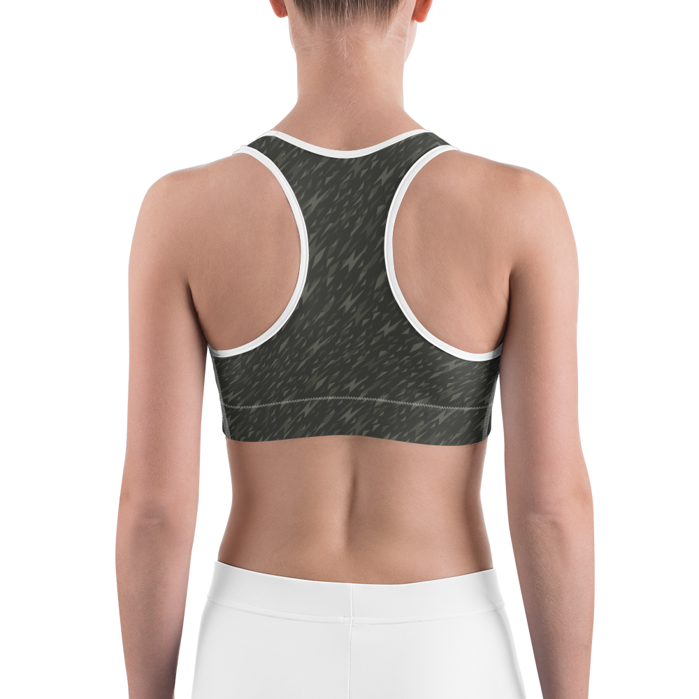 Sports Bra - Army Camo Thunder | Activewear | TopGurl Printed Athleisure - TOPGURL